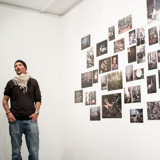 Photographer Matthias Ziegler speaks about his work at the artist talk at Münchner Stadtmuseum. (Photo: Robert Pupeter)
