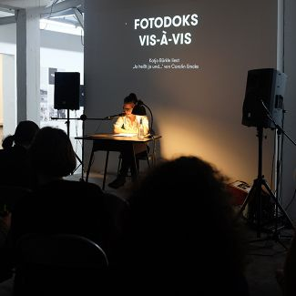 Katja Bürkle (Actress, Munich) reading an excerpt from the book